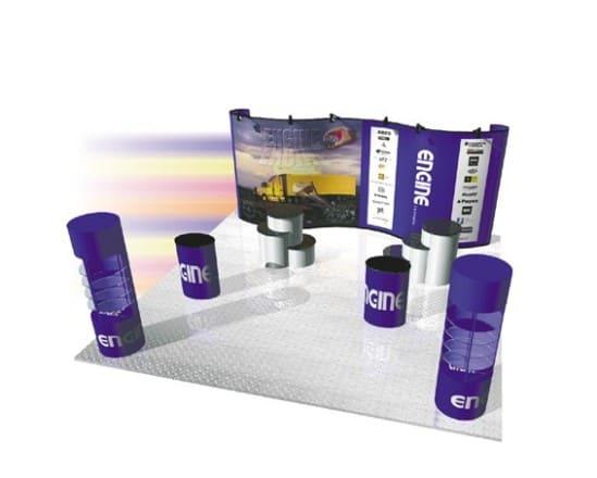 Trade show presentation system by skyline