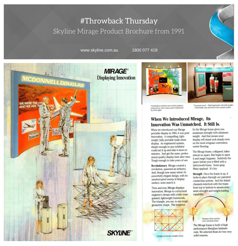 Skyline Throwback Thursday - 1991 Mirage Brochure
