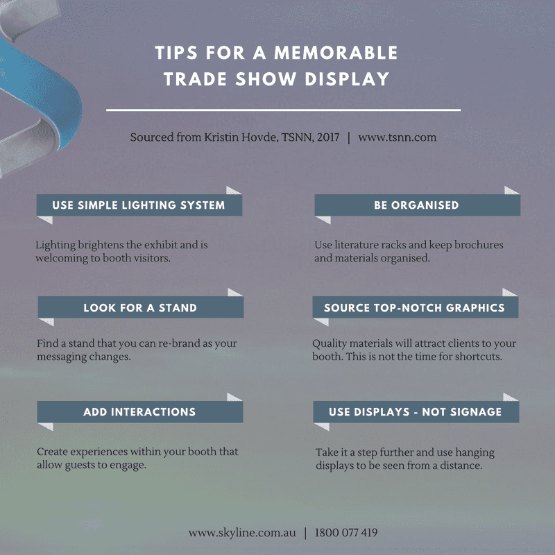 Tips for a Memorable Trade Show Display