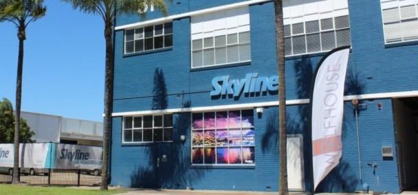 Skyline Front of Building - Window Graphics