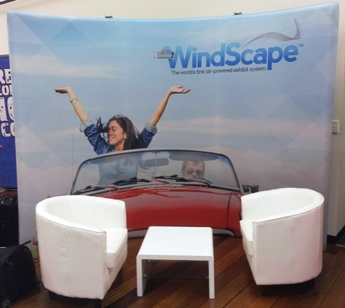 WindScape Curved 3 Metre Back Wall
