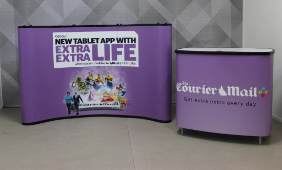 Courier-Mail Portable Display