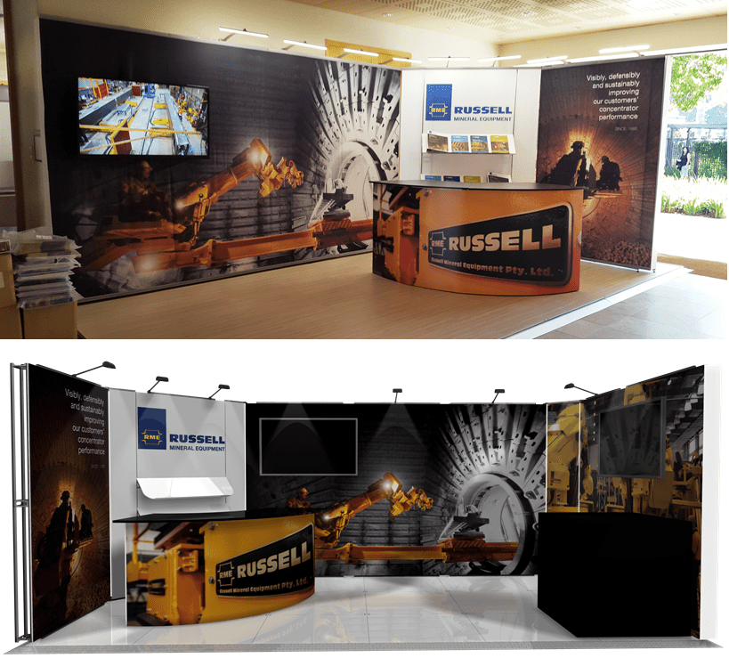 #RussellMineralEquipment #ExhibitionStand #Comminution16 #CapeTown