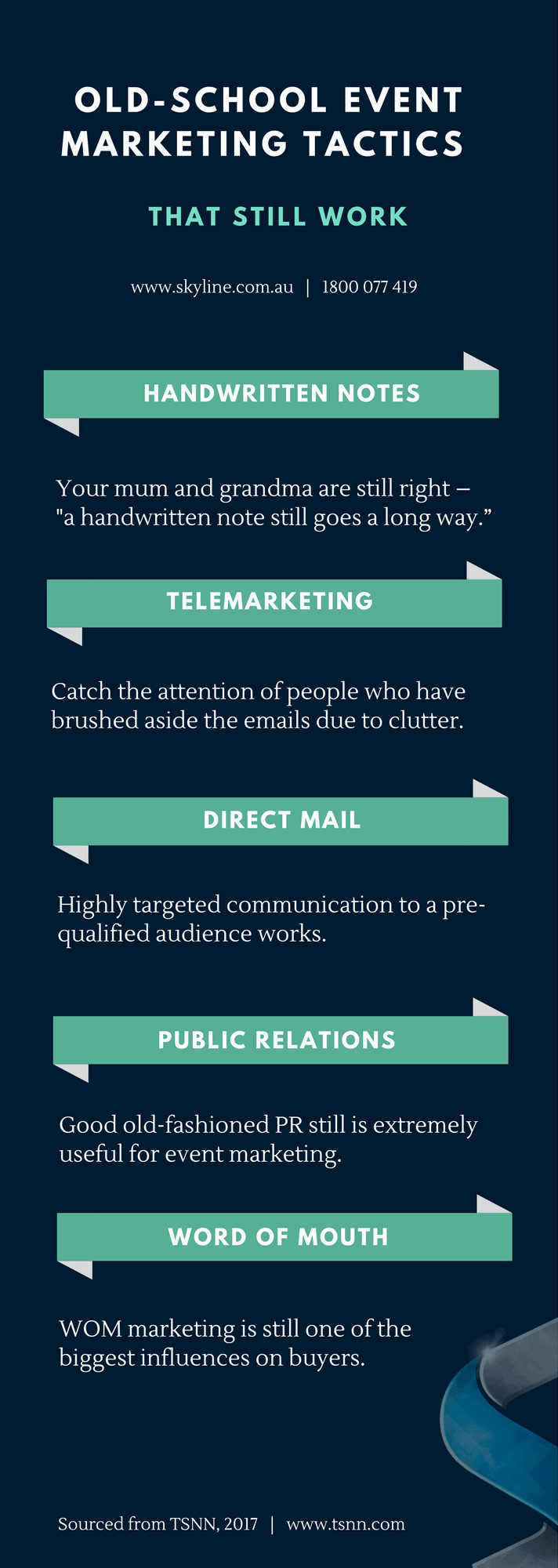 Fact Friday - Old School Event Marketing Tactics