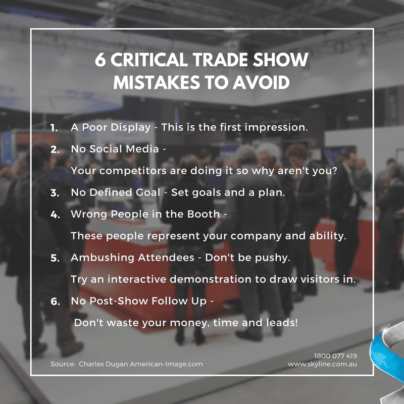 6 critical trade show mistakes to avoid